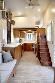 Interior Design For Very Small House The Best Tiny House Build White Appliances Wood Stairs And