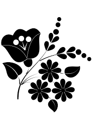 clipart flower ornament folk