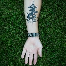 tree silhouette pine tree temporary momentary ink