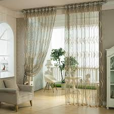 Window Sheer Curtains 2 Panel Breathable Hollow Out Window Screening Sheer Curtains