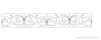 printable floral border stencils free printable stencils