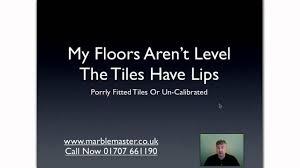 uneven floor tiles solution 01707 661190