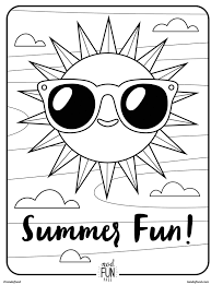 free downloadable summer fun coloring book pages books inside
