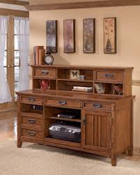 Office Desk Credenza Cross Island Home Office Short Desk Hutch H319 48 Hutch