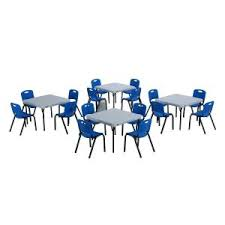lifetime childrens folding table lifetime blue stacking kids chair set of 4 80472 the home depot