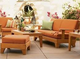 6 pc teak wood garden outdoor patio sofa set brand pool caranas