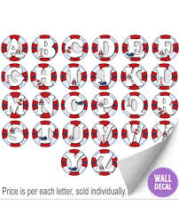 wall letters kids nursery decor nautical alphabet stickers nautical ocean alphabet wall letter vinyl decal stickers