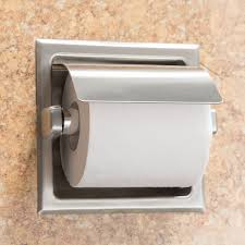 toilet paper dispenser b 6697 recessed toilet tissue dispenser with stainless steel hood
