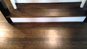 walnut color on hardwood floors and stairs