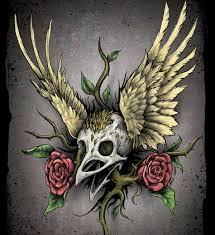 skull bird 15 atrocious skull tattoos awesome