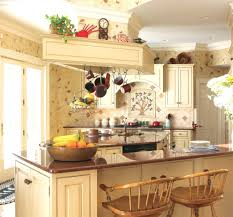 cottage kitchen wallpaper home design ideas