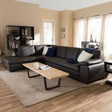 porsche chocolate brown italian leather sectional sofa free