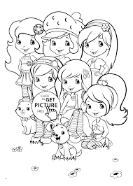 Strawberry Shortcake Halloween Coloring Pages by Team Strawberry Shortcake Coloring Pages For Kids Printable Free
