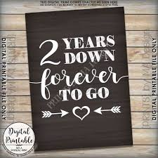 2 year wedding anniversary gift 2nd wedding anniversary gift 2 years forever to go 2nd
