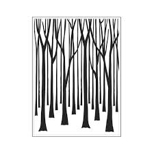 darice embossing folder thin tree trunks pda card craft
