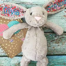 monogrammed bunny birth announcement bunny personalized jellycat bunny rabbit