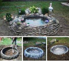 How To Make Backyard Pond by Best 25 Tractor Tire Pond Ideas Only On Pinterest Tire Pond