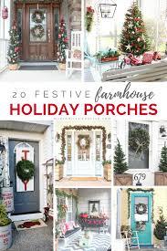 festive farmhouse holiday porches