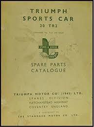 1954 1961 triumph tr2 tr3 u0026 tr3a repair shop manual reprint