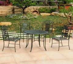 Wrought Iron Patio Furniture Set five piece wrought iron patio set patio table
