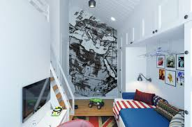 small teenage room design with a second floor sleeping quarters