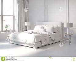 weiße schlafzimmer zeitgenosse alles weiße schlafzimmer stock abbildung bild 71656319