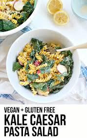 classic pasta salad vegan kale caesar pasta salad the glowing fridge