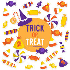 halloween trick or treat design vector download