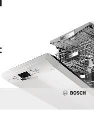 Bosh Dishwasher Manual Bosch Dishwasher Smv50c00gb Pdf Instruction Manual Free Download
