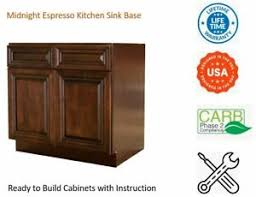 kitchen base cabinets ebay midnight espresso kitchen sink base cabinet ebay