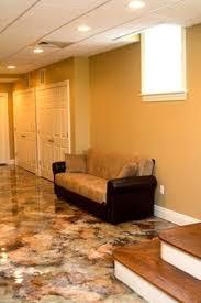 painting basement floor like granite acid staining stained
