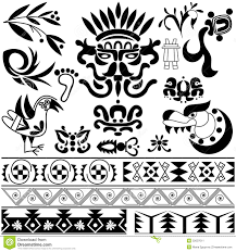 set of ancient american ornaments stock vector image 52007011