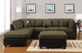 Microfiber Sectional Sofa With Ottoman by Furniture Gallant Sage Green Leather Sofa Comfortably Occupied