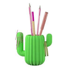 Magnetic Desk Organizer Mustard Green Cactus Pen Holder Magnetic Desktop Organizer Desk