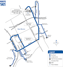 Bart Line Map by Route 141