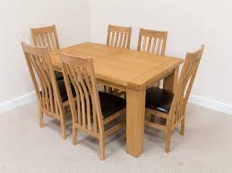 6 seater oak dining table riga 6 seater oak dining table set brown leather chairs with mocha