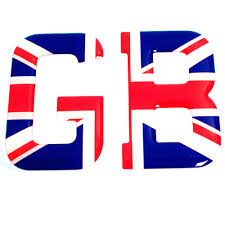 Union Flags Flag Stick On Gb Letters