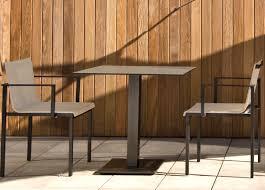 Modern Garden Table Una Cafe Table Garden Chairs Modern Garden Furniture