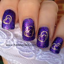 cute hearts nail art design everything nails pinterest