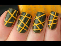 striping tape nail art tutorial youtube