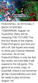 Memes Cartoon Network - cartoon network universe fusionfall is officially back starting