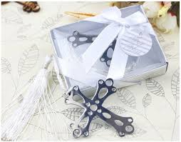 baptism favors cross bookmark for wedding decoration wedding baptism favors and