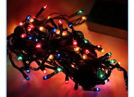 Christmas Tree Made Of Christmas Lights - christmas tree made of light strings christmas lights card and