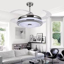 acrylic ceiling fan blades led hidden blade quiet stainless steel acrylic ceiling fan led l
