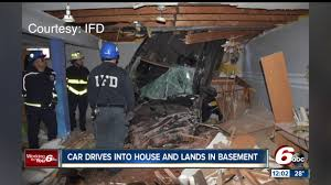 car crashes into speedway indiana house ends up in basement