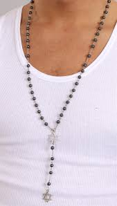 hematite rosary rosary of david in hematite apparel