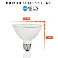 led dimmable light bulb par30sn short neck 12watt