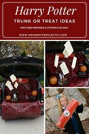 harry potter trunk or treat with free printable platform 9 3 4