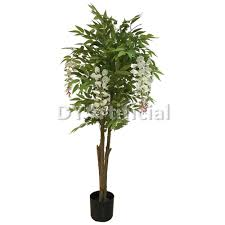 3ft timber trunk white color artificial wisteria trees dongyi