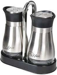 Black And White Kitchen Canisters Amazon Com Salt U0026 Pepper Shaker Sets Home U0026 Kitchen